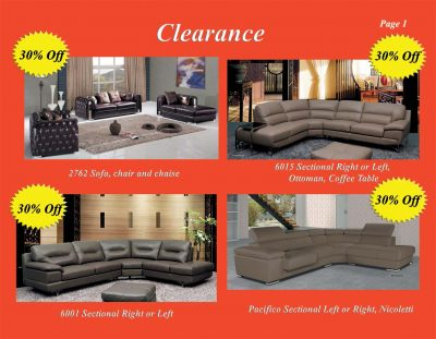 Clearance 2016  Clearance Brochure Page 1