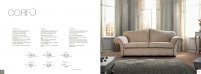 Collections Elkfo Living Room, Classic Sofas and Chairs Corfu