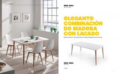 Collections Marcello Ibanez  Modern  Casual Dining Room Spain Kiki Table and Mali Chairs