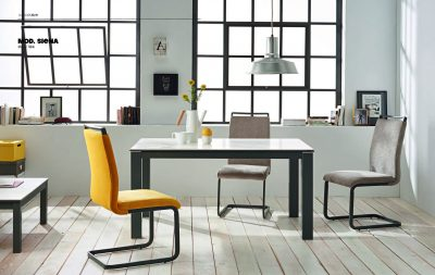 Collections Marcello Ibanez  Modern  Casual Dining Room Spain Siena Table and Capri Chairs
