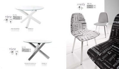 Collections Marcello Ibanez  Modern  Casual Dining Room Spain Lena Table, Luna Table, Ninfa Chair
