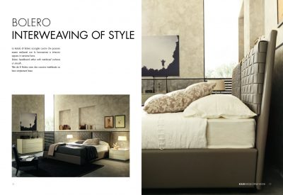 Collections SMA Modern Bedrooms, Italy BOLERO BED