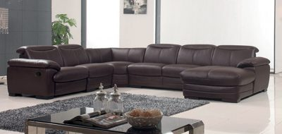 Living Room Furniture Recliners 2146 Sectional w/Recliner